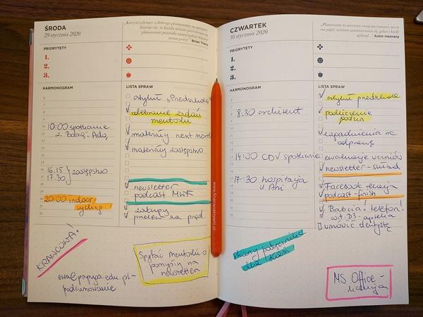 organizacja pracy - kalendarz