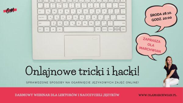 darmowy webinar dla nauczycieli onlajnowe tricki i hacki