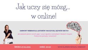 darmowy webinar jak uczy się mózg w online